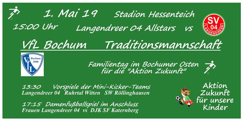 """Familientag beim SV Langendreer 04 für die """"Aktion Zukunft"""""""