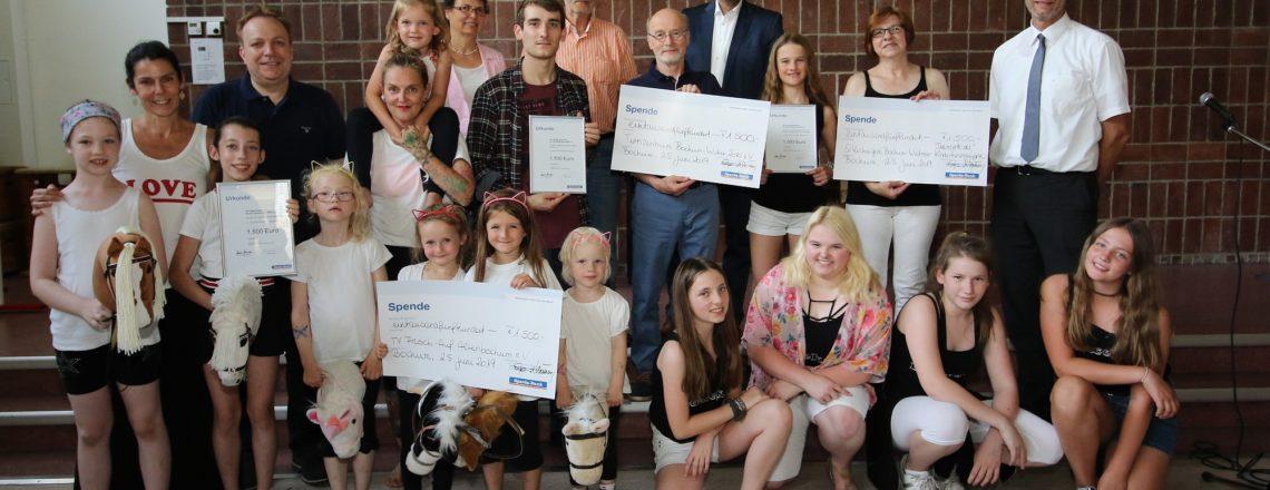 Förderpreis JiVe (Jugendarbeit im Verein) ging mit je 1.500 € an Bochumer Sportvereine für ihre Jugendarbeit